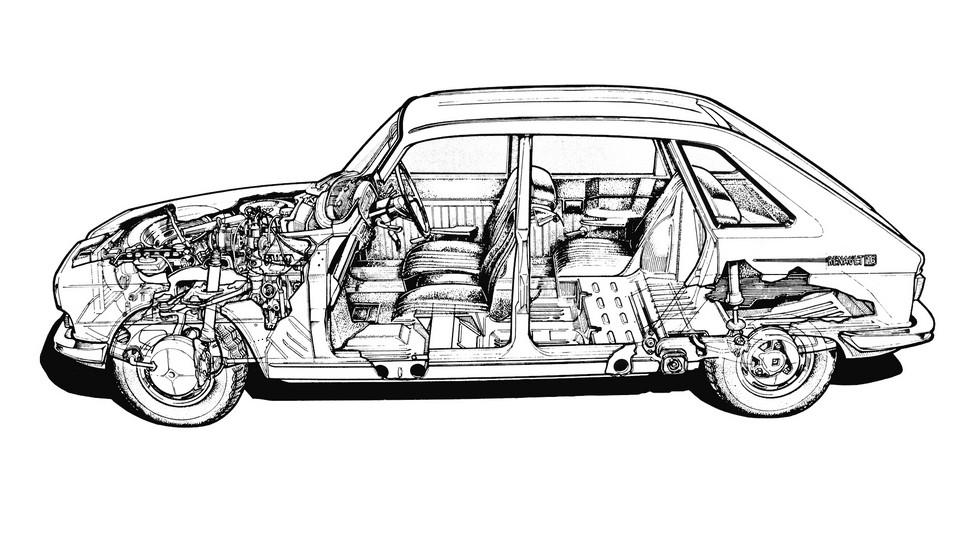 Даже спустя полвека компоновка французского автомобиля остаётся вполне актуальной