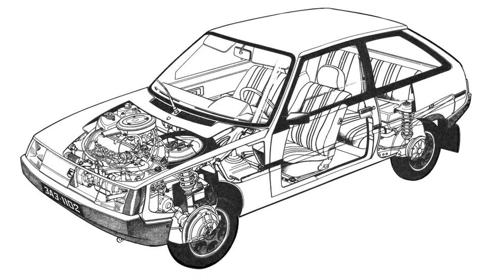 ЗАЗ-1102 – компактный хэтчбек с непростой судьбой