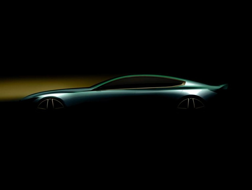 "BMW 8 Series Gran Coupe: ""Stay tuned. More to come in Geneva next week""."