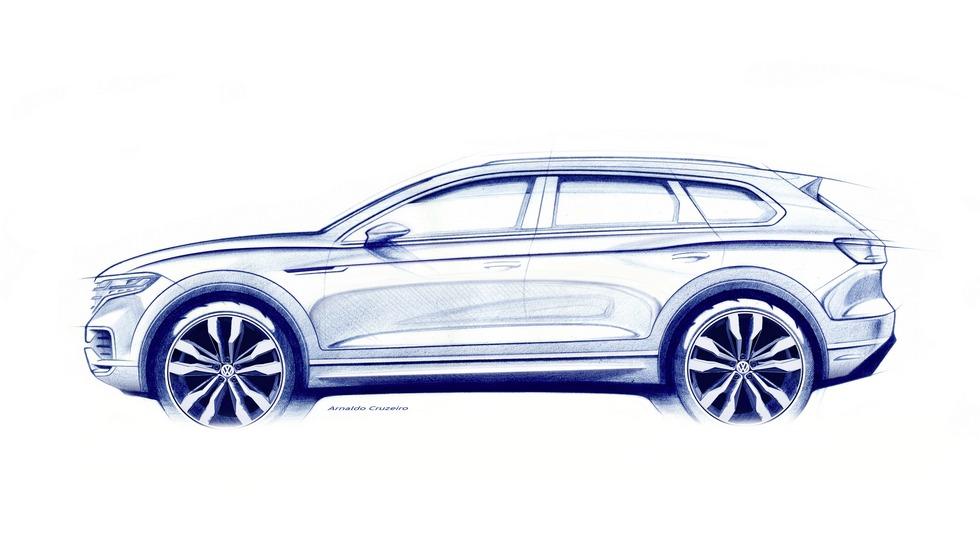 Первое официальное изображение VW Touareg нового поколения