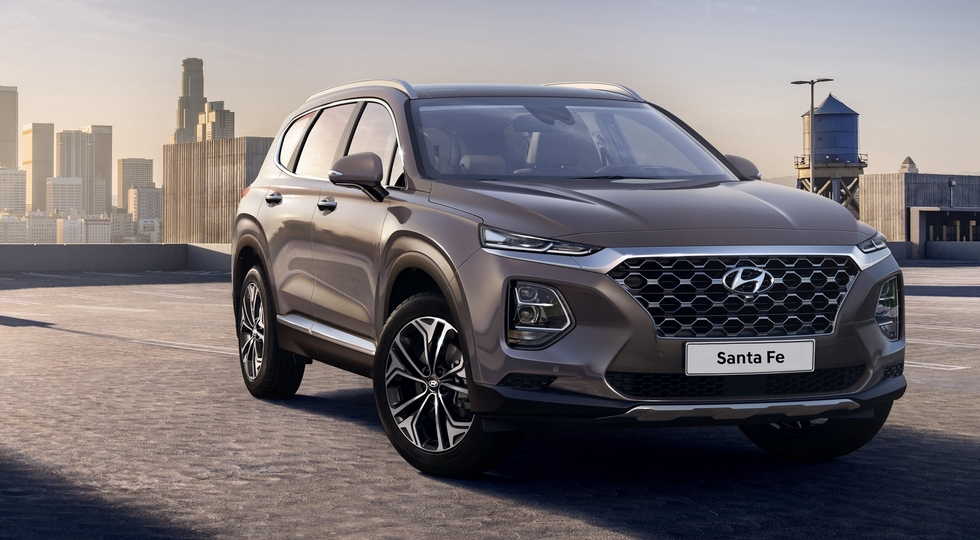 Официальное фото нового Hyundai Santa Fe