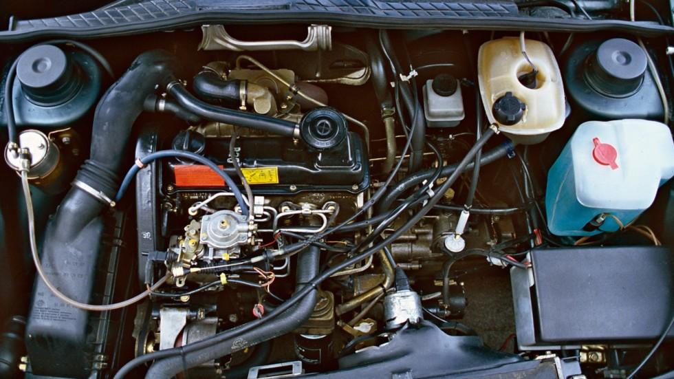 На фото: двигатель Volkswagen Golf GTD (Typ 19) '1984–85