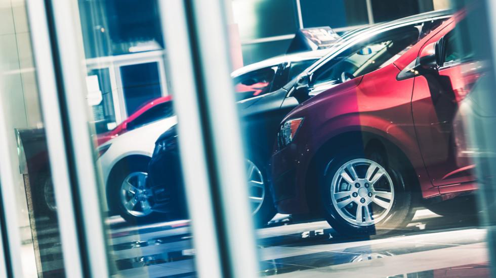 Car Dealer Window Shopping