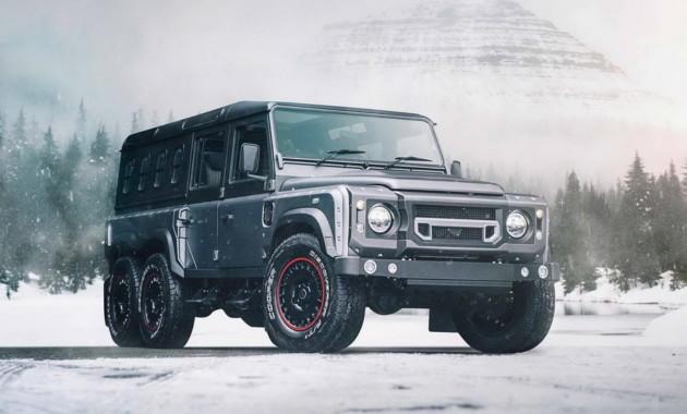Kahn запускает в продажу новую шестиколесную версию Land Rover Defender