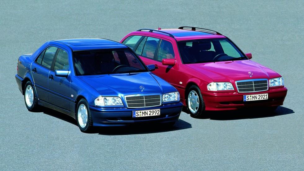 На фото: Mercedes-Benz C-Klasse (202) '1993–2000
