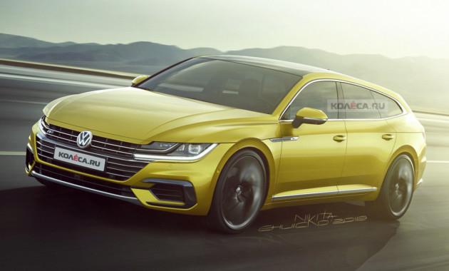 Универсал Volkswagen Arteon: первые изображения