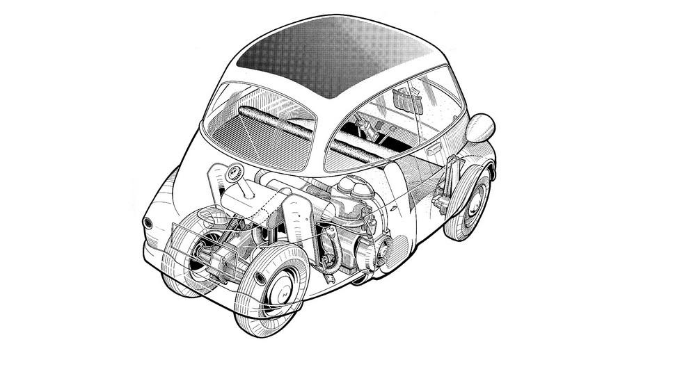 Конструктивно мотоколяски и кабиненроллеры отличались от «нормальных» машин