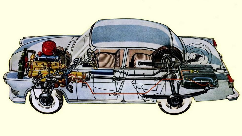 Компоновка машины позволяла агрегатировать с четырехцилиндровым мотором как АКП, так и обычную механику