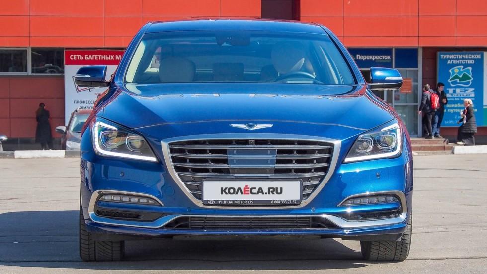Genesis G80 синий спереди