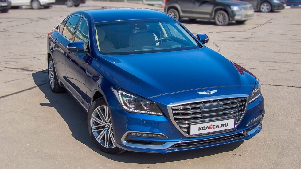 Genesis G80 синий три четверти 2