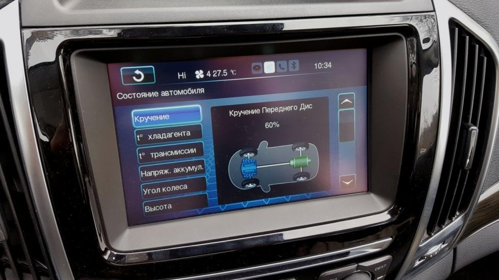 Haval H9 зелёного цвета дисплей мультимедийной системы