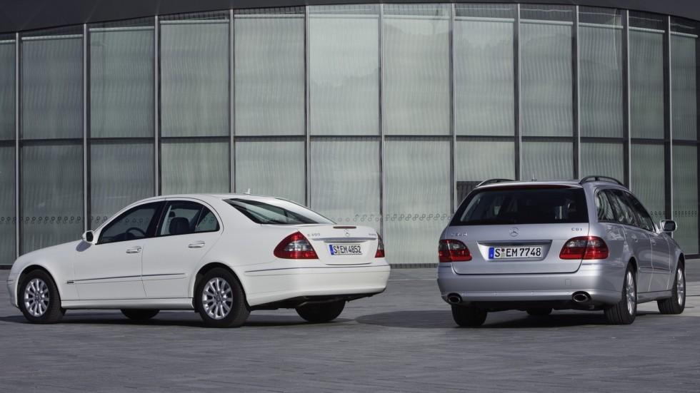 Mercedes-Benz E-Klasse (211) вид сзади