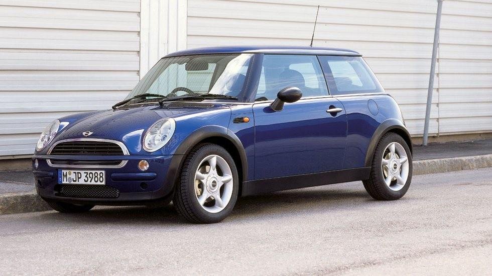 Mini One (R50) '2001–06 синий вид сбоку