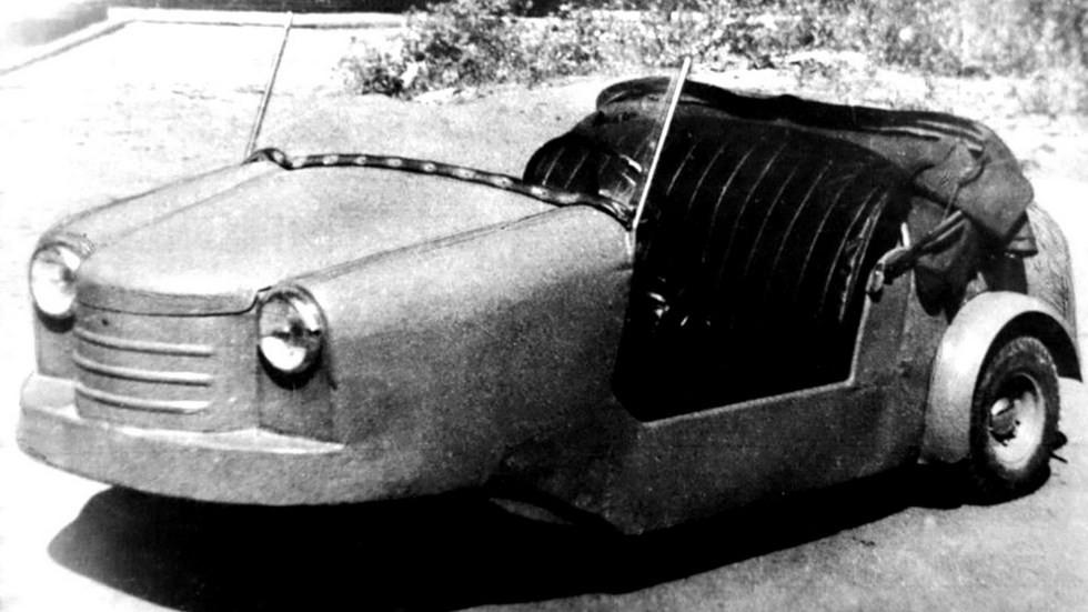 Прототип двухместной инвалидной коляски С-1Л. 1951 год