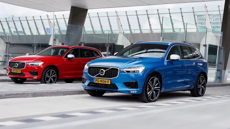 Volvo XC60 2017 красный и голубой
