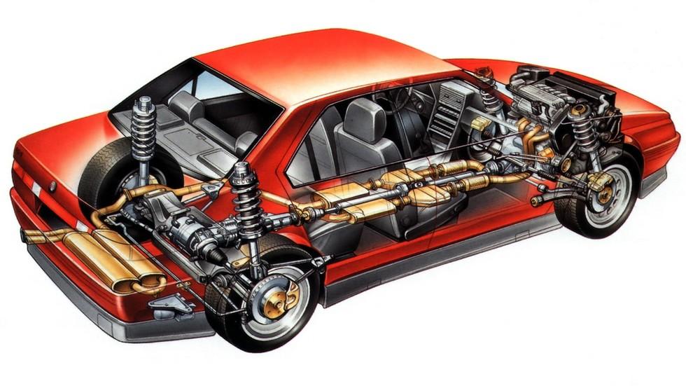 Alfa Romeo 164 Quadrifoglio 4 схема автомобиля