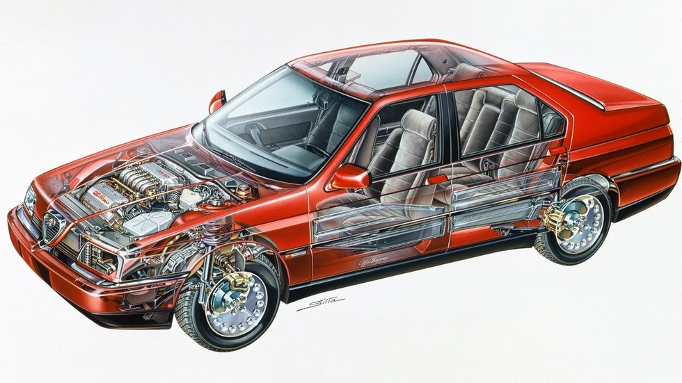 Alfa Romeo 164 схема автомобиля