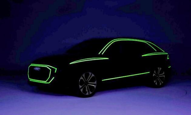 Серийный Audi Q8 представили в темноте