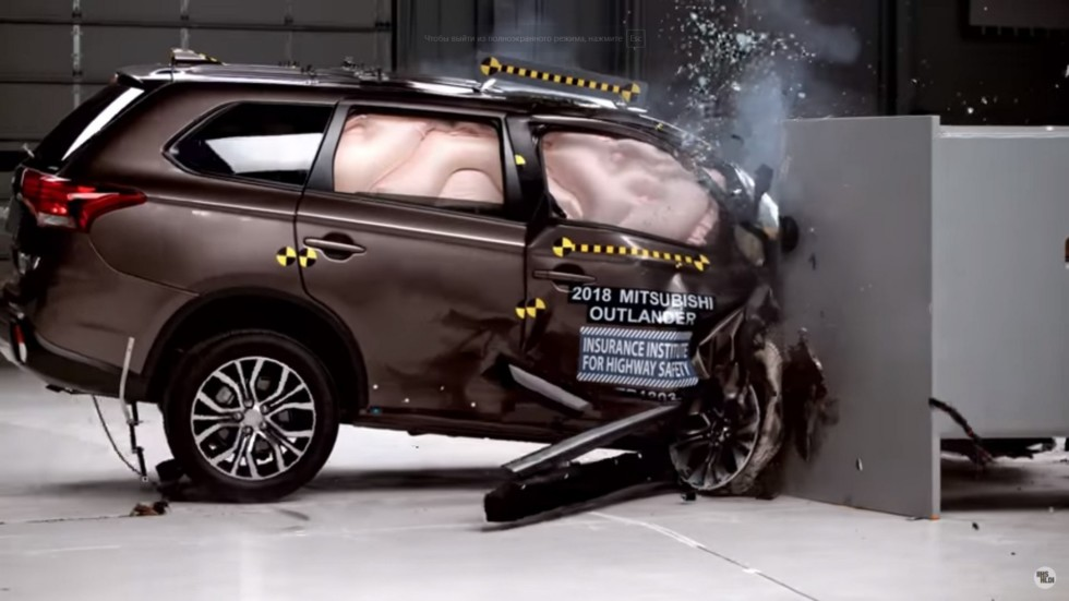 Mitsubishi Outlander в тесте IIHS