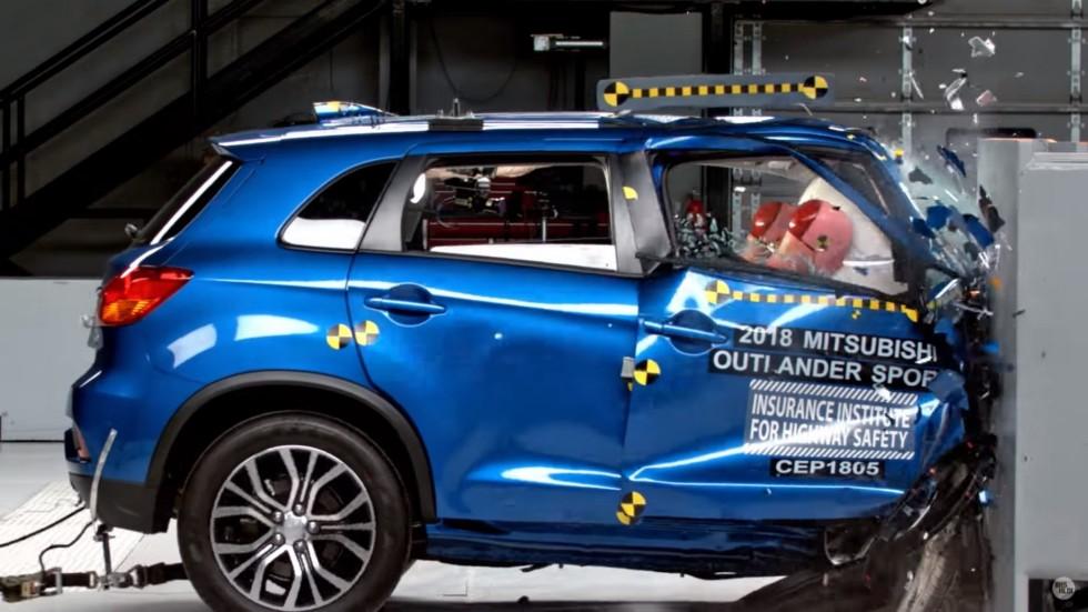 Mitsubishi Outlander Sport в тесте IIHS