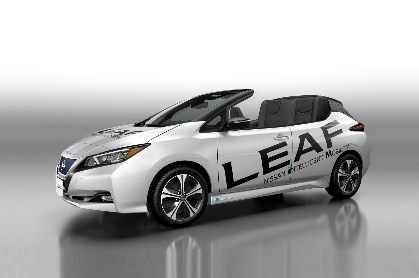 Новому Nissan Leaf снесло крышу