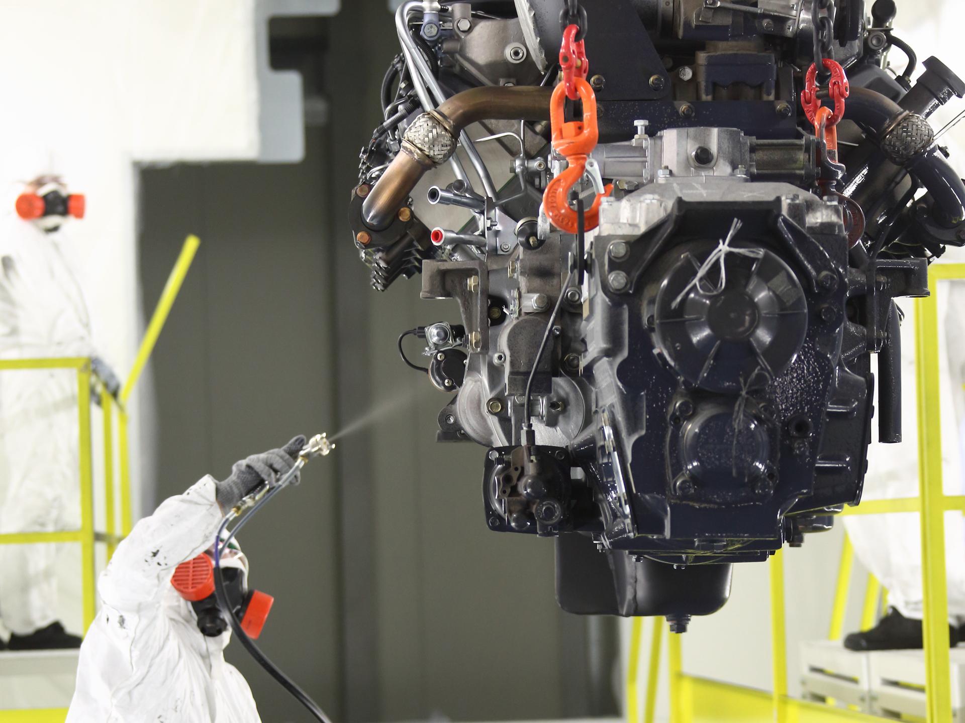 КАМАЗ запустил линию окраски двигателей нового поколения