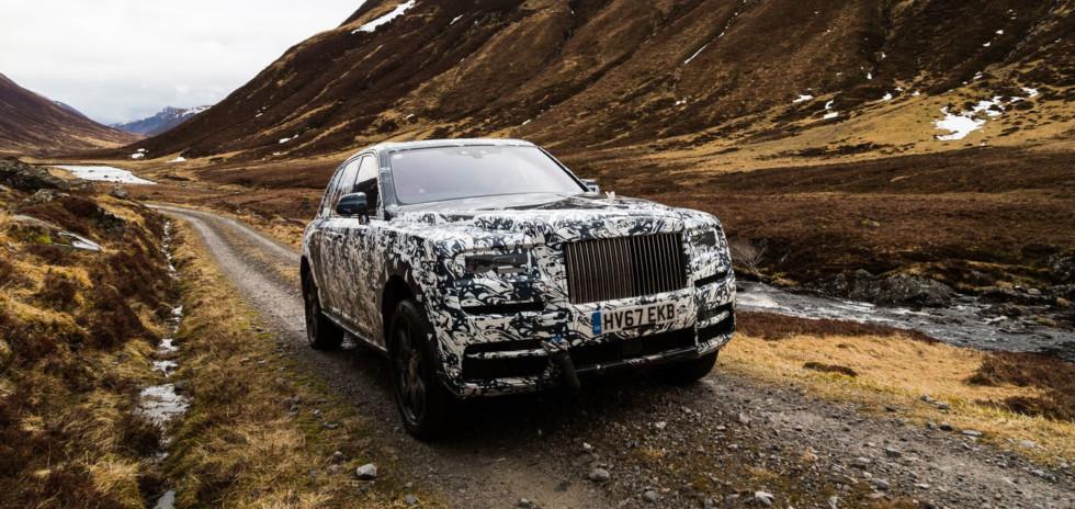 Внедорожник Rolls-Royce Cullinan: опубликовано первое изображение