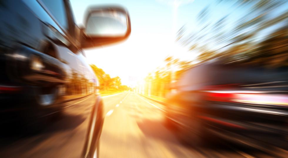 high-speed car