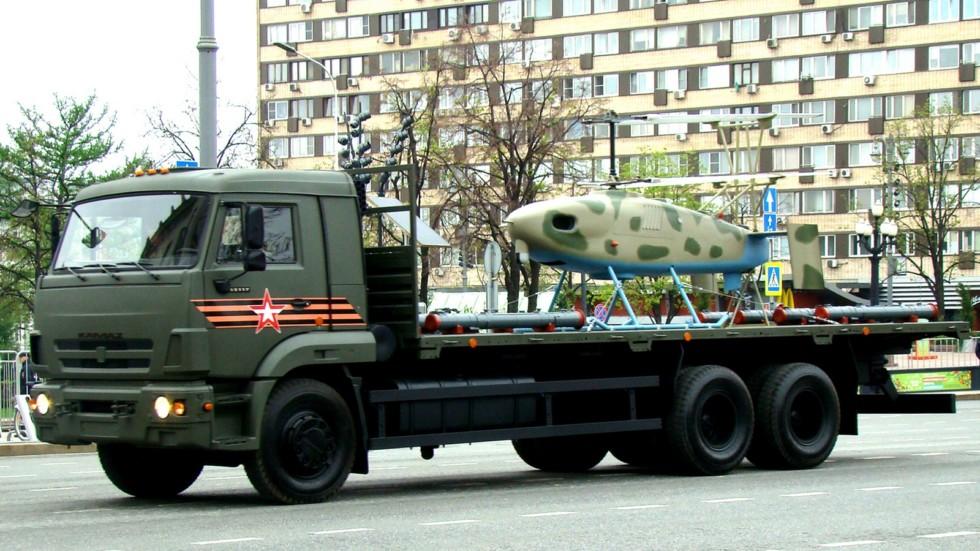 КамАЗов с вертолетным беспилотником «Катран»