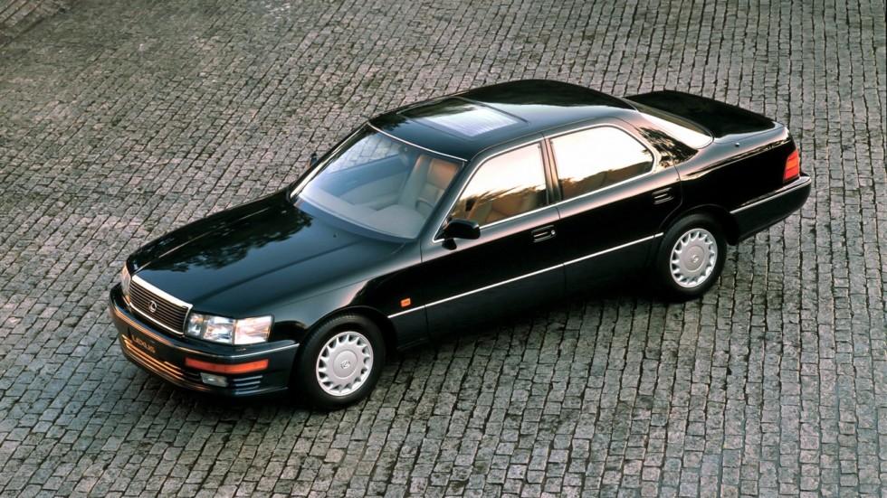 Lexus LS 400 Worldwide (UCF10) '1989–94 чёрный вид сбоку