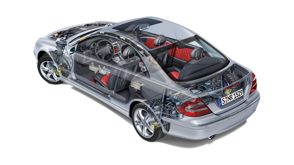 Mercedes-Benz CLK '2002–05 схема