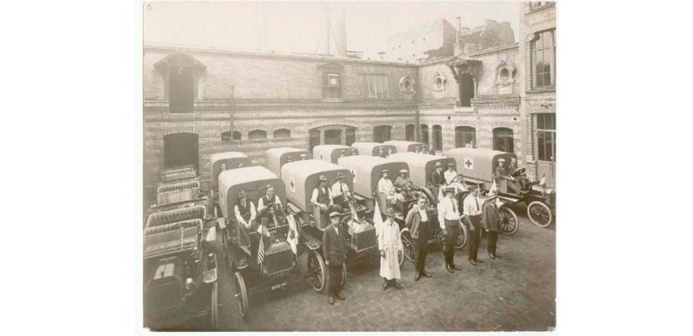 Санитарная колонна времён Первой мировой