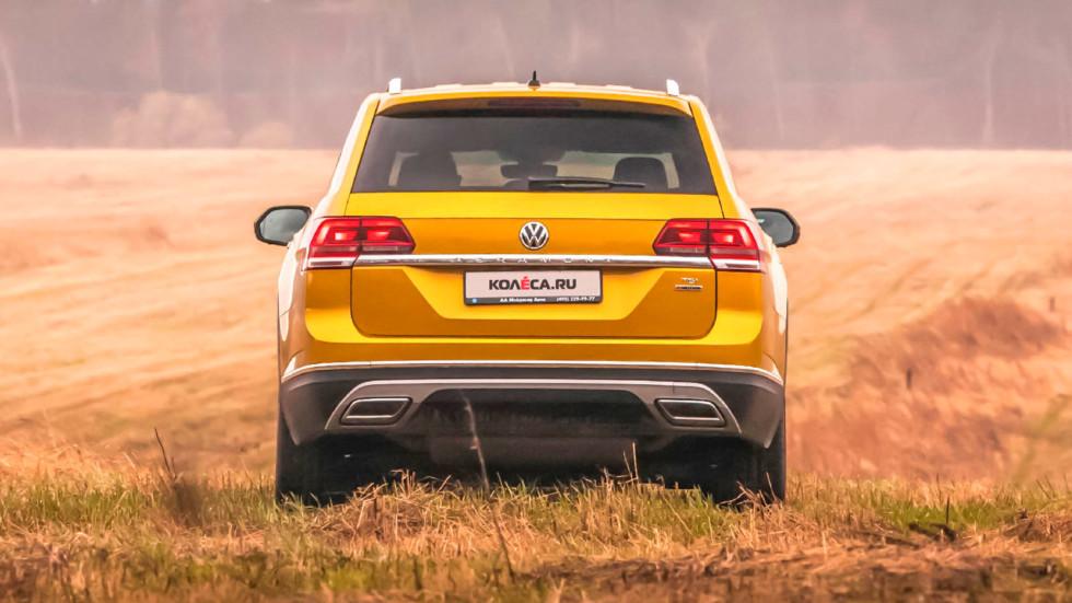 Volkswagen Teramont вид сзади