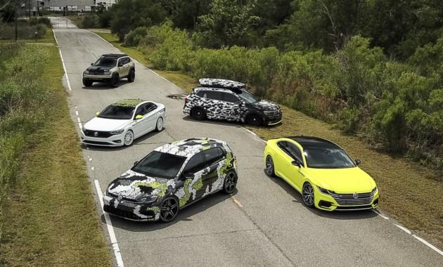 Фольксваген  представил сразу 5  особенных  авто