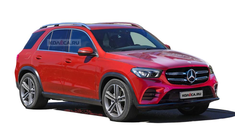Mercedes-Benz GLE нового поколения (рендер Колеса.ру)
