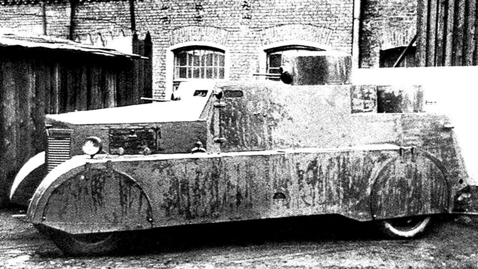 Опытный образец пулеметного броневика-дрезины БАД-1 на базе Ford-AA