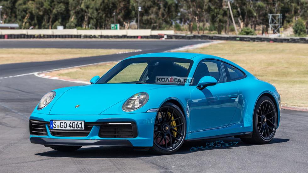 Porsche 911/992 (рендер Колеса.ру)