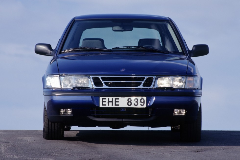 Saab 900 SE Turbo Coupe '1993–98 синий спереди