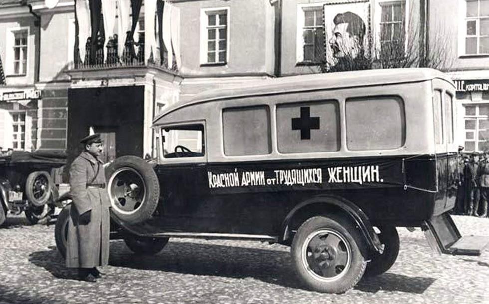 Войсковой автомобиль медицинской службы на базе Ford-AA