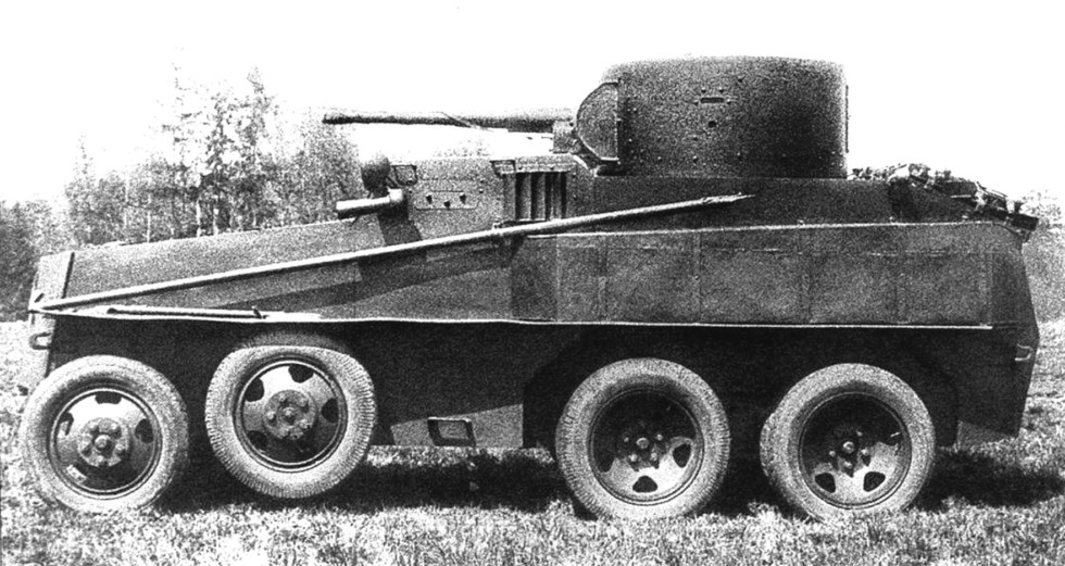 бронеавтомобиль-амфибия ПБ-4 на агрегатах Ford-Timken