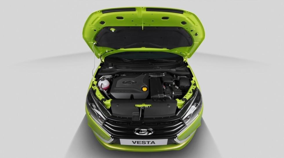 Lada Vesta зелёная двигатель