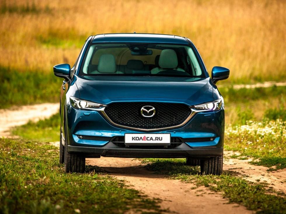 Mazda CX-5 синяя спереди