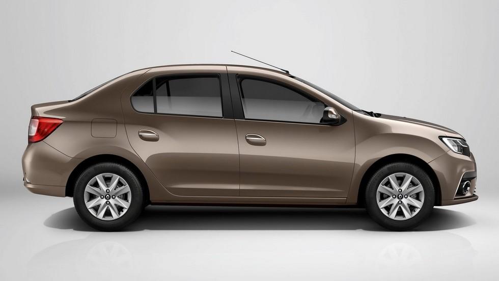 Renault Logan коричневый сбоку