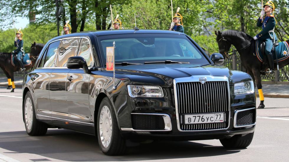 На фото: лимузин Aurus Senat