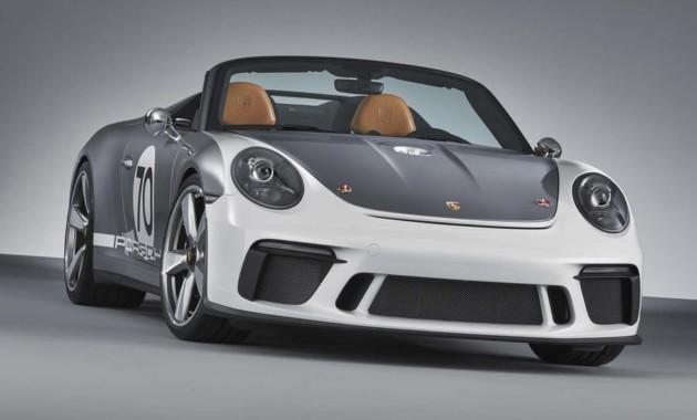 Порш показала вГудвуде новый кабриолет Порше 911 Speedster 2018