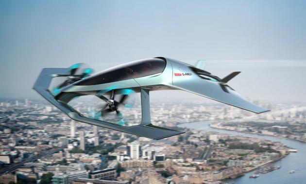 В Астон Мартин  показали летающий автомобиль Volante Vision