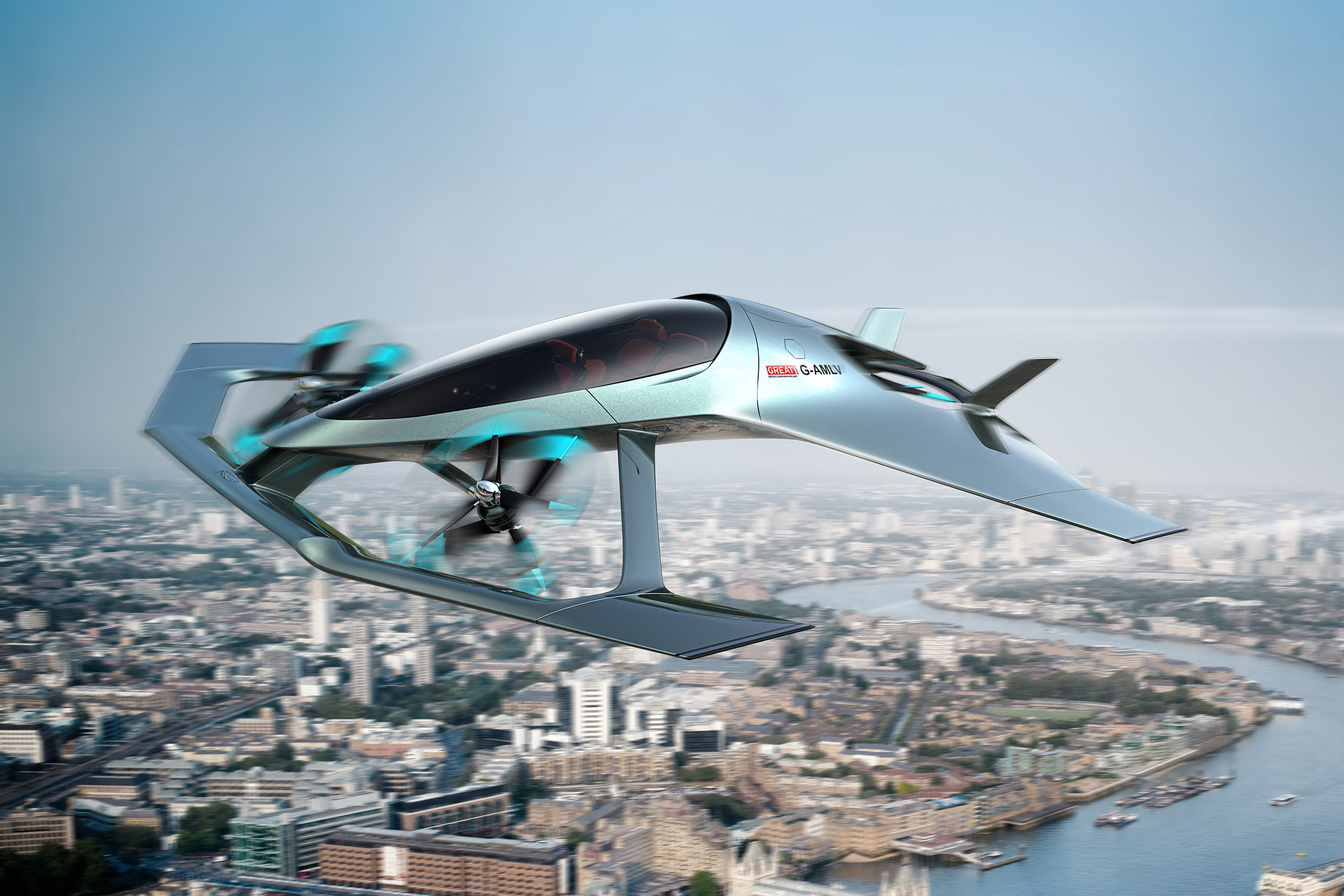 Концепт летающего автомобиля представила компания Aston Martin