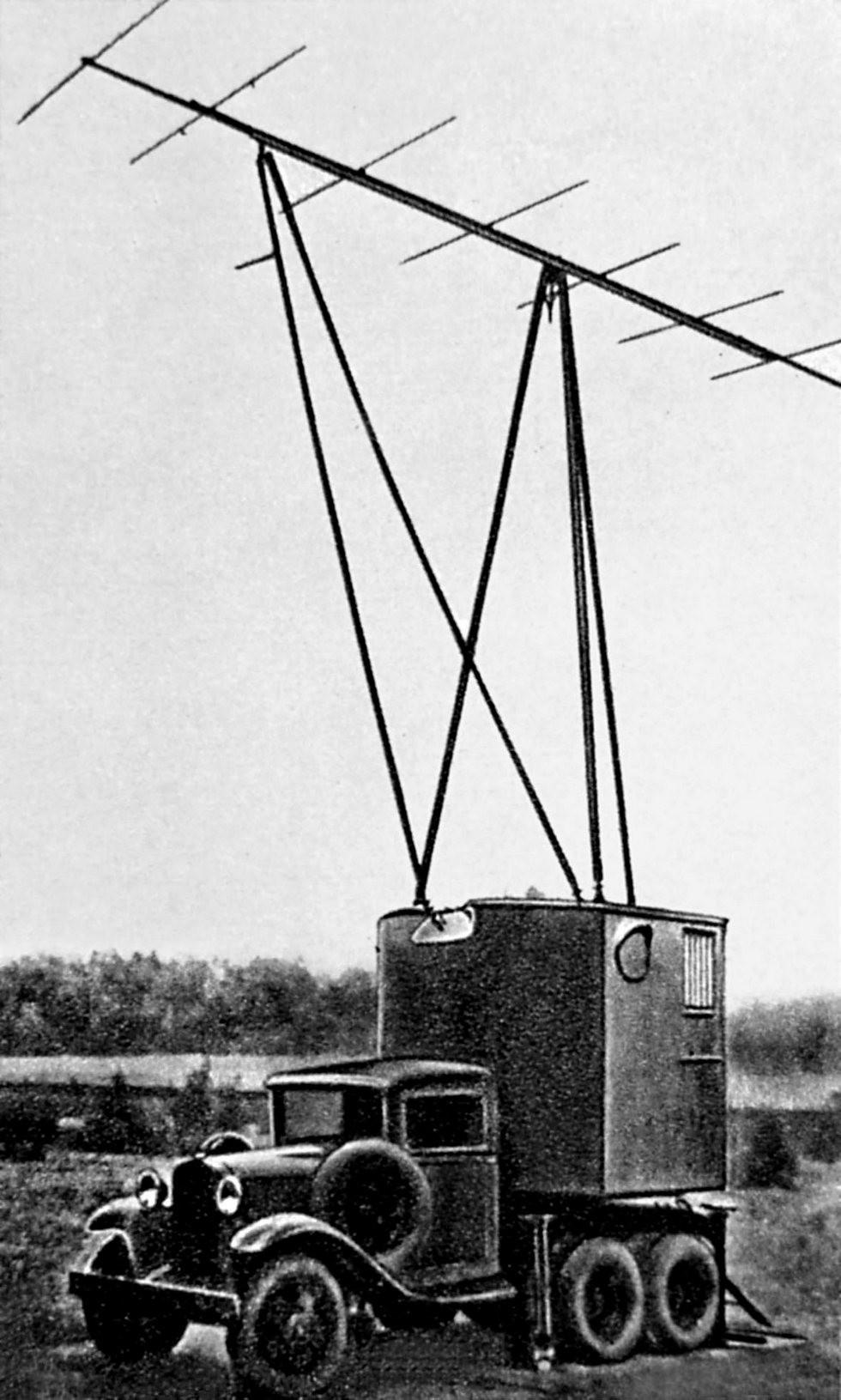 Радиолокационная станция «Редут-40» в поворотном фургоне