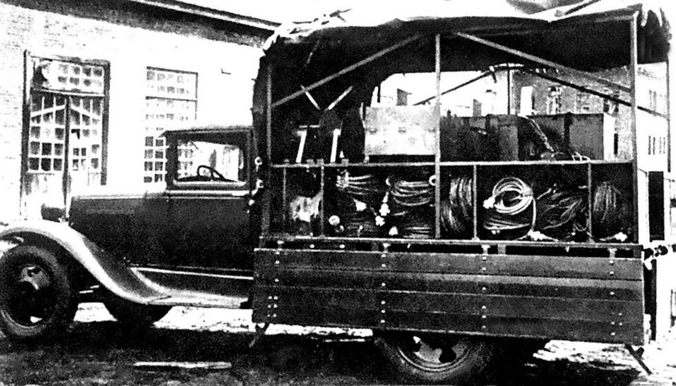 Агрегатный автомобиль электростанции АЭС-1 на шасси ГАЗ-АА