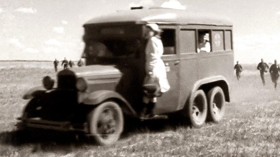 Довоенный вариант автобуса медицинской службы ГАЗ-05-194 (кинокадр)
